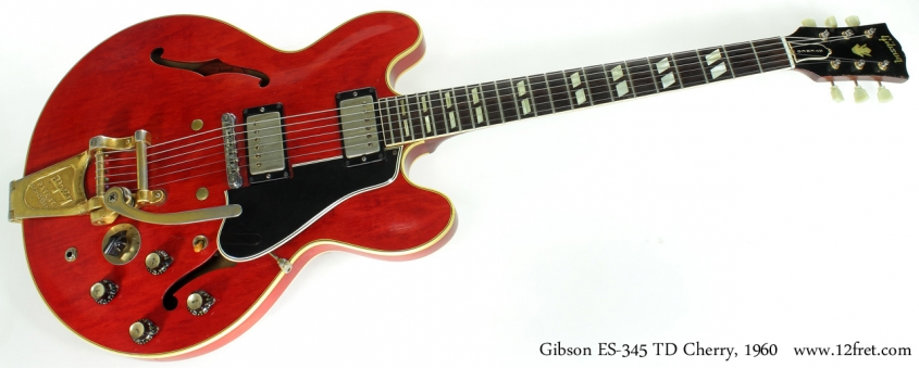 Cherry Red Gibson ES-345 TD, 1960 full front view