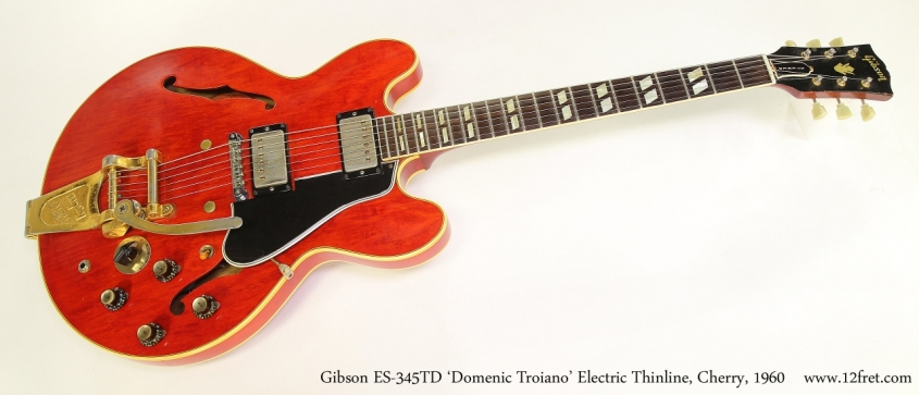 Gibson ES-345TD 'Domenic Troiano' Electric Thinline, Cherry, 1960  Full Front View