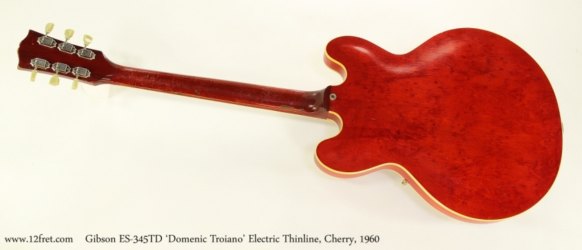 Gibson ES-345TD 'Domenic Troiano' Electric Thinline, Cherry, 1960  Full Rear View