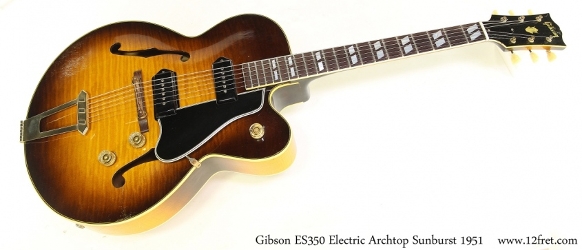 Gibson ES350 Electric Archtop Sunburst 1951 Full Front View