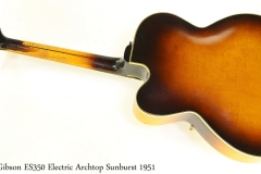 Gibson ES350 Electric Archtop Sunburst 1951 Full Rear View