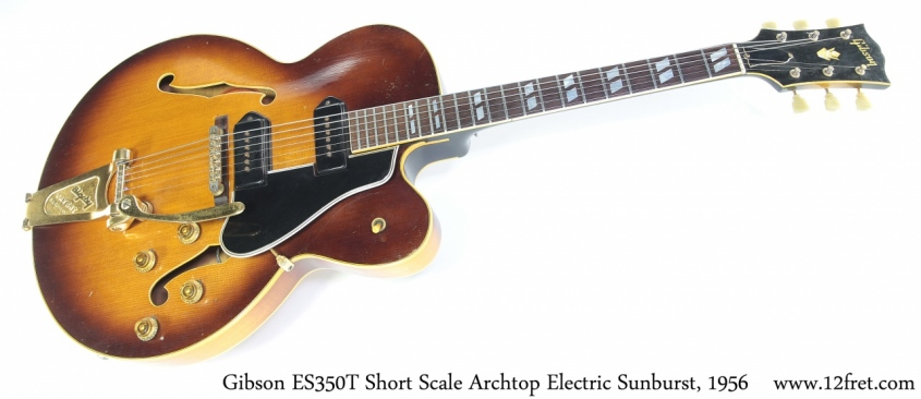 Gibson ES350T Short Scale Archtop Electric Sunburst, 1956 Full Front View