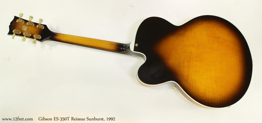 Gibson ES-350T Reissue Sunburst, 1992  Full Rear View