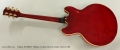 Gibson ES-355TD Thinline Archtop Electric Guitar, Cherry 1966 Full Rear View