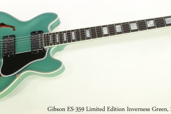 Gibson ES-359 Limited Edition Inverness Green, 2010   Full Front View