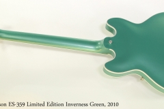 Gibson ES-359 Limited Edition Inverness Green, 2010   Full Rear View