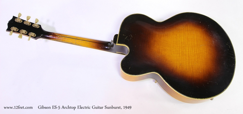 Gibson ES-5 Archtop Electric Guitar Sunburst, 1949 Full Rear View