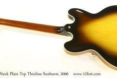 Gibson ESDP-335 Dot Neck Plain Top Thinline Sunburst, 2006 Full Rear View