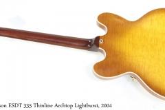Gibson ESDT-335 Thinline Archtop Lightburst, 2004 Full Rear View