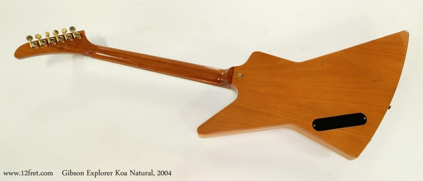 Gibson Explorer Koa Natural, 2004  Full Rear View