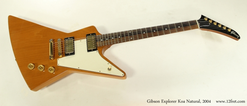 Gibson Explorer Koa Natural, 2004  Full Front View