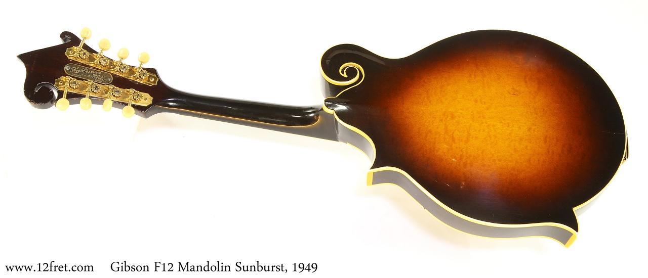 Gibson F12 Mandolin Sunburst, 1949   Full Rear View
