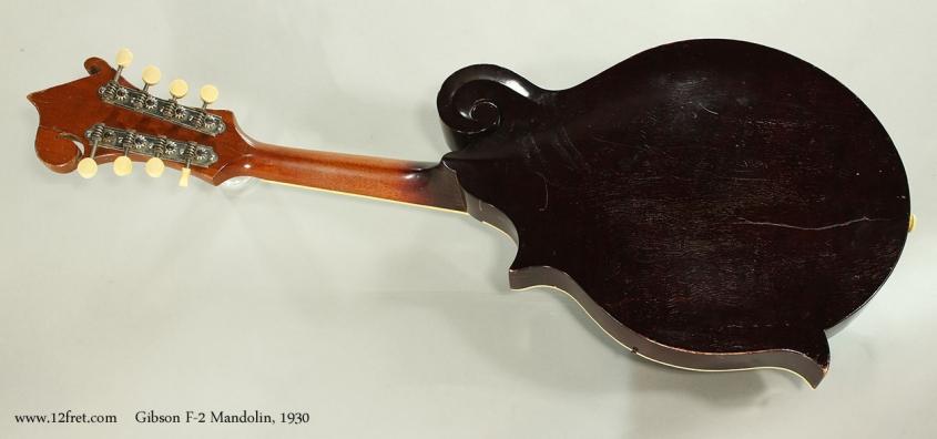 Gibson F-2 Mandolin, 1930 Full Rear View
