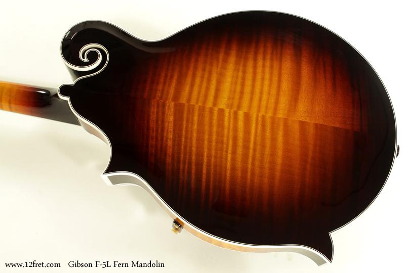 Gibson F-5L Fern Mandolin back