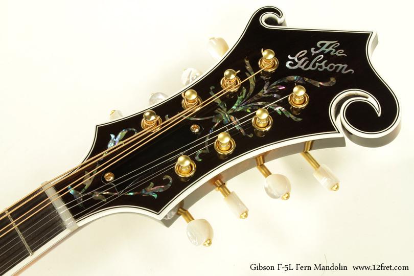 Gibson F-5L Fern Mandolin head front view