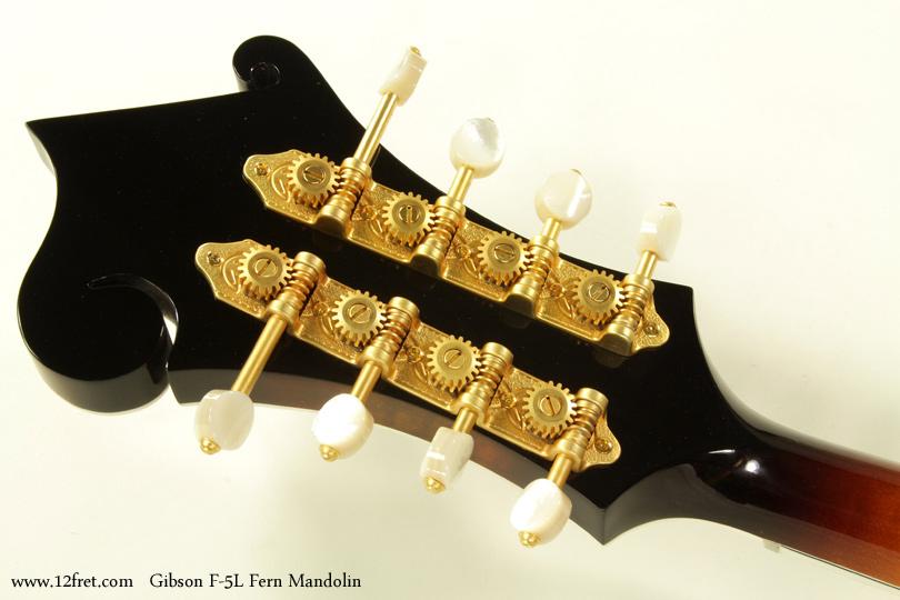 Gibson F-5L Fern Mandolin head rear view