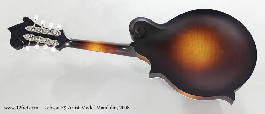 Gibson F9 Artis Model Mandolin, 2008 Full Rear View