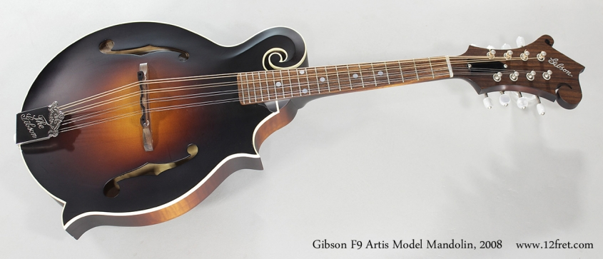 Gibson F9 Artis Model Mandolin, 2008 Full Front View
