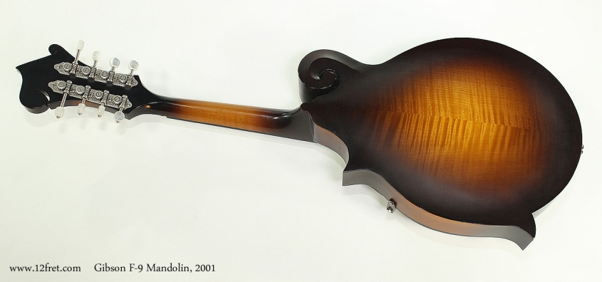 Gibson F-9 Mandolin, 2001 Full Rear View