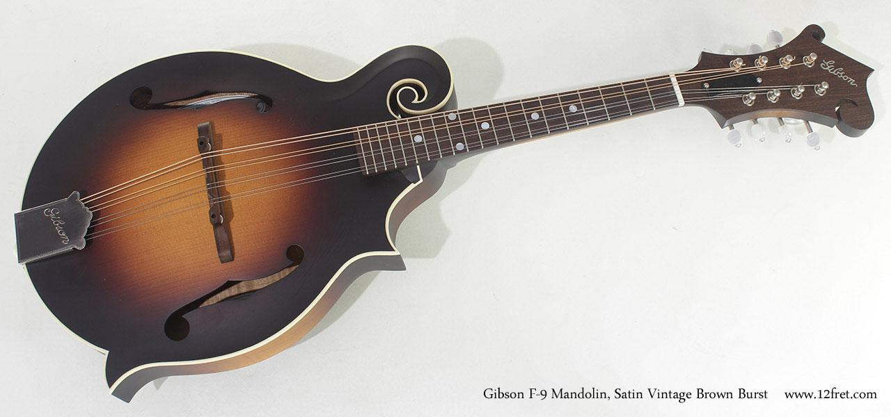 Gibson F-9 Mandolin Satin Brownburst full front view