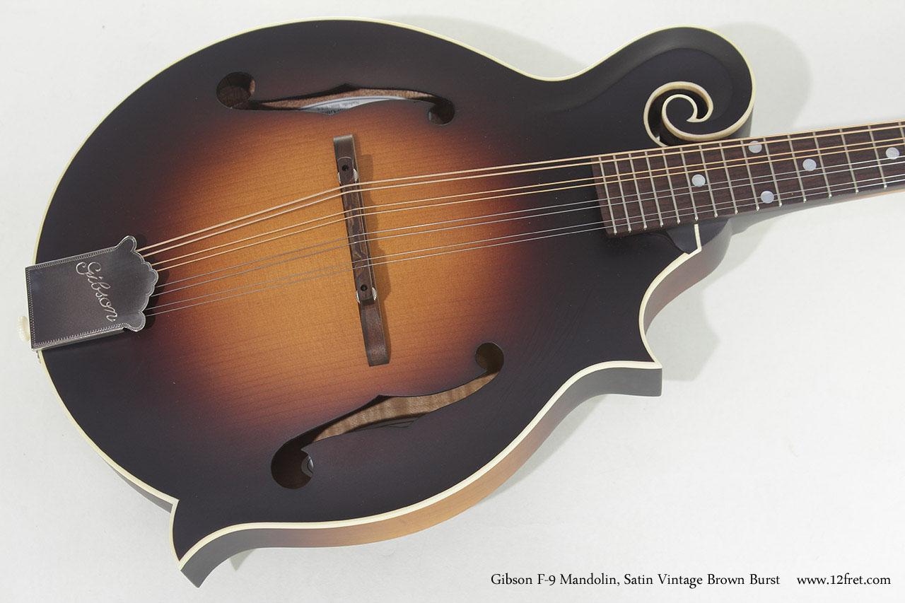 Gibson F-9 Mandolin Satin Brownburst top