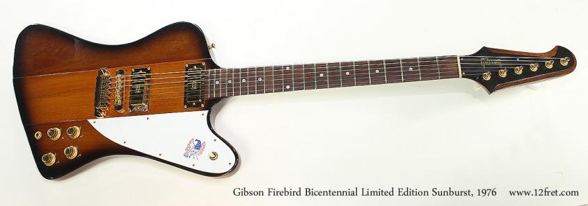 Gibson Firebird Bicentennial Limited Edition Sunburst, 1976 Full Front View