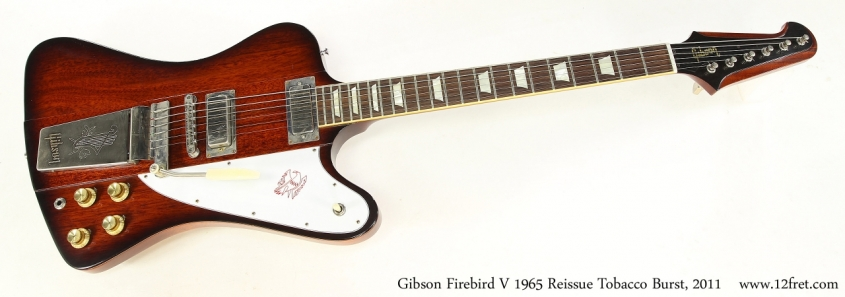 Gibson Firebird V 1965 Reissue Tobacco Burst, 2011  Full Front View