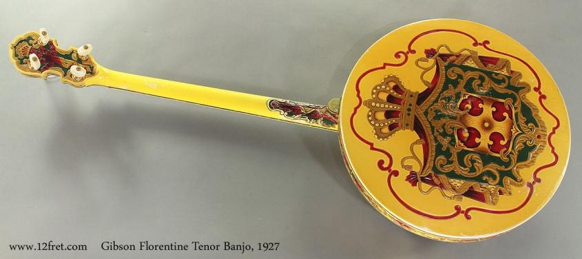 Gibson Florentine Tenor Banjo 1927 full rear view
