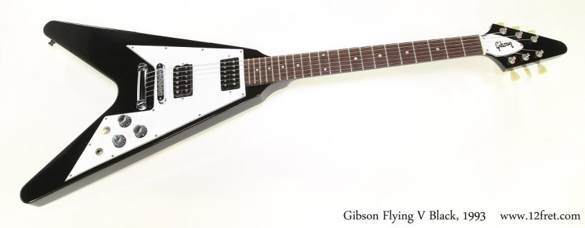 Gibson Flying V Black, 1993   Full Front View