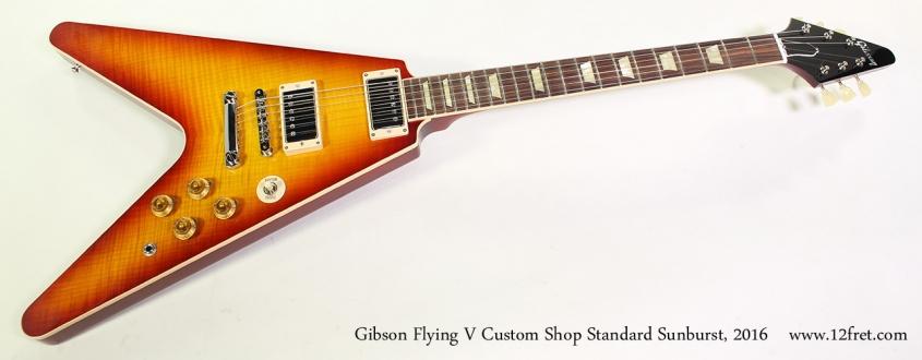 Gibson Flying V Custom Shop Standard Sunburst, 2016 Full Front View