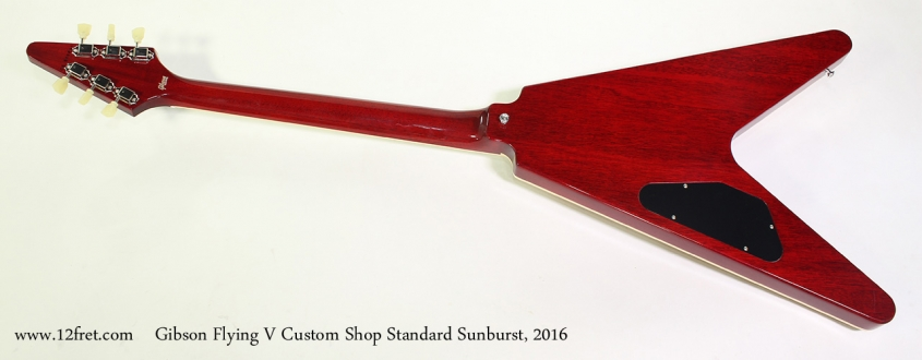 Gibson Flying V Custom Shop Standard Sunburst, 2016 Full Rear View