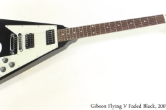 Gibson Flying V Faded Black, 2007 Full Front View