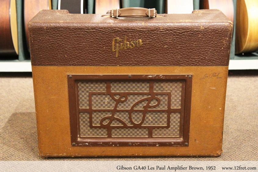 Gibson GA40 Les Paul Amplifier Brown, 1952 Full Front View