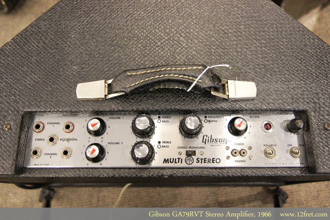 Gibson GA79RVT Stereo Amplifier, 1966 Control Panel View