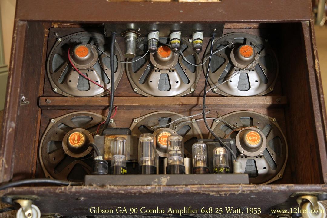 Gibson GA-90 Combo Amplifier 6x8 25 Watt, 1953   Back View