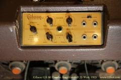 Gibson GA-90 Combo Amplifier 6x8 25 Watt, 1953   Control Panel View