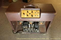 Gibson GA-90 Combo Amplifier 6x8 25 Watt, 1953   Full Rear View