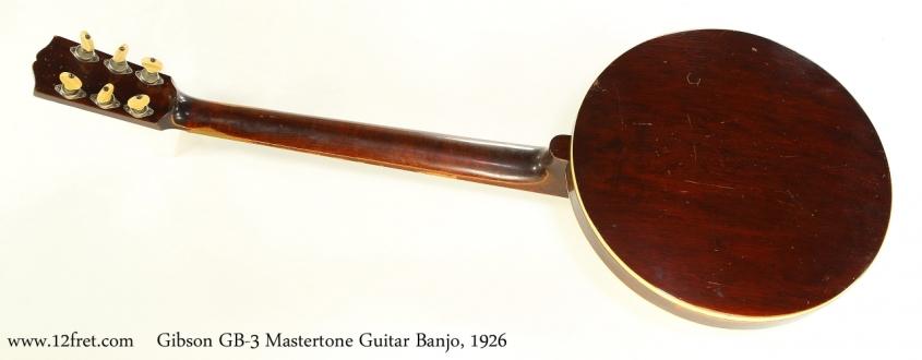 Gibson GB-3 Mastertone Guitar Banjo, 1926  Full Rear View