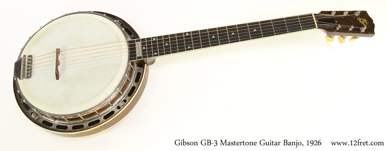 Gibson GB-3 Mastertone Guitar Banjo, 1926  Full Front View