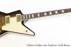 Gibson Golden Axe Explorer, Gold Burst, 2013 Full Front View