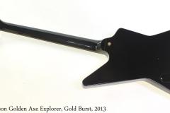 Gibson Golden Axe Explorer, Gold Burst, 2013 Full Rear View