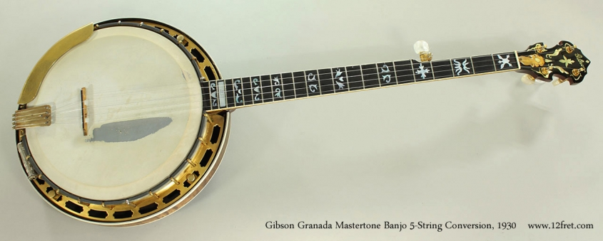 Gibson Granada Mastertone Banjo 5-String Conversion, 1930 Full Front View