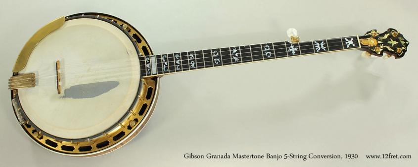 Gibson Granada Mastertone Banjo 5-String Conversion, 1930 Full Front View