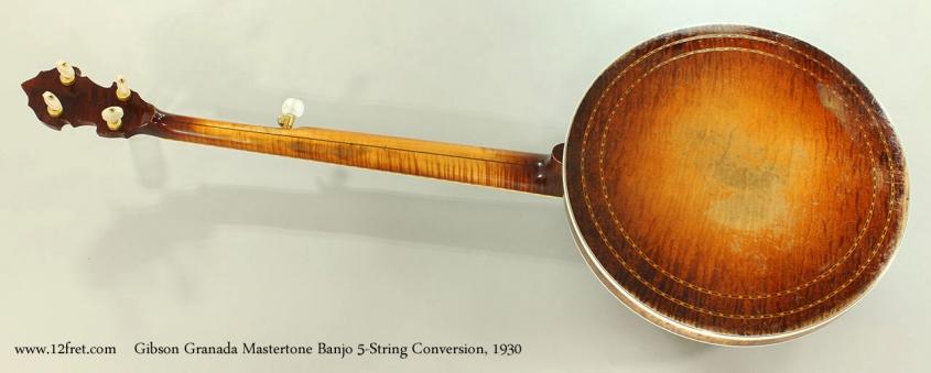 Gibson Granada Mastertone Banjo 5-String Conversion, 1930 Full Rear View