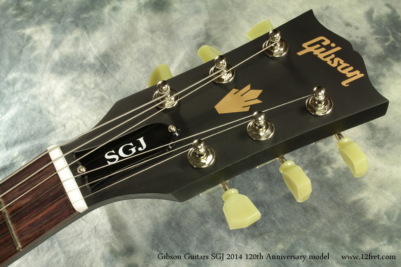 Gibson Guitars SGJ 2014 120th Anniversary head front