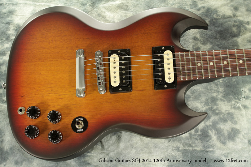 Gibson Guitars SGJ 2014 120th Anniversary top