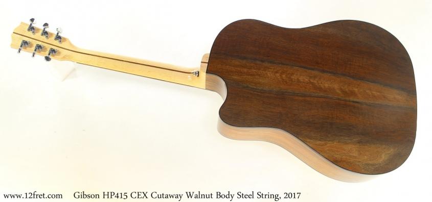 Gibson HP415 CEX Cutaway Walnut Body Steel String, 2017 Full Rear View