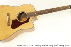 Gibson HP415 CEX Cutaway Walnut Body Steel String, 2017 Full Front View