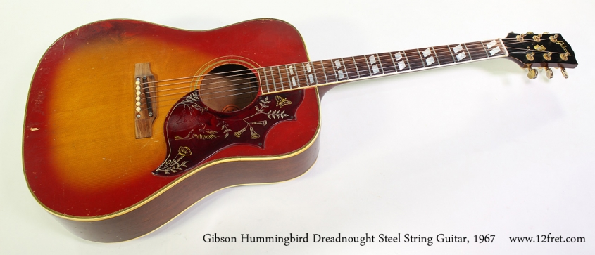 Gibson Hummingbird Dreadnought Steel String Guitar, 1967 Full Front View