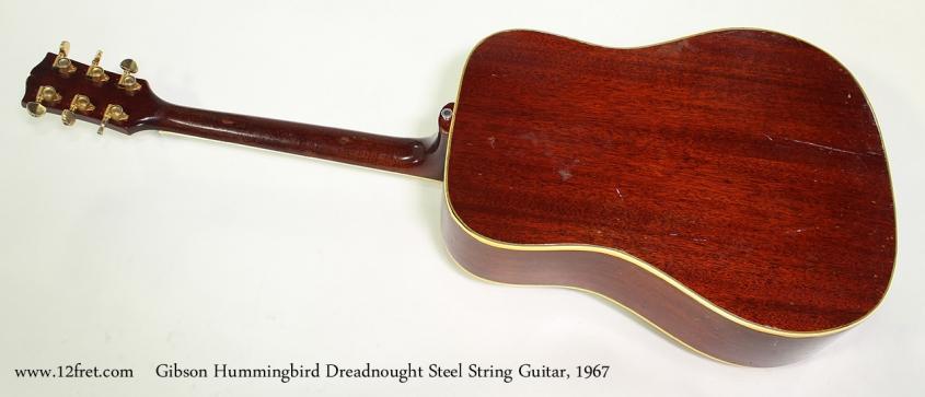 Gibson Hummingbird Dreadnought Steel String Guitar, 1967 Full Rear View